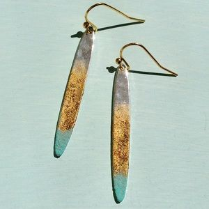Handcrafted Boho Earrings +Anthropologie Envelope